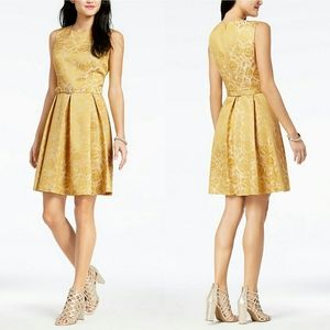 Nine West Belted Jacquard Dress NWT **PRICE FIRM**